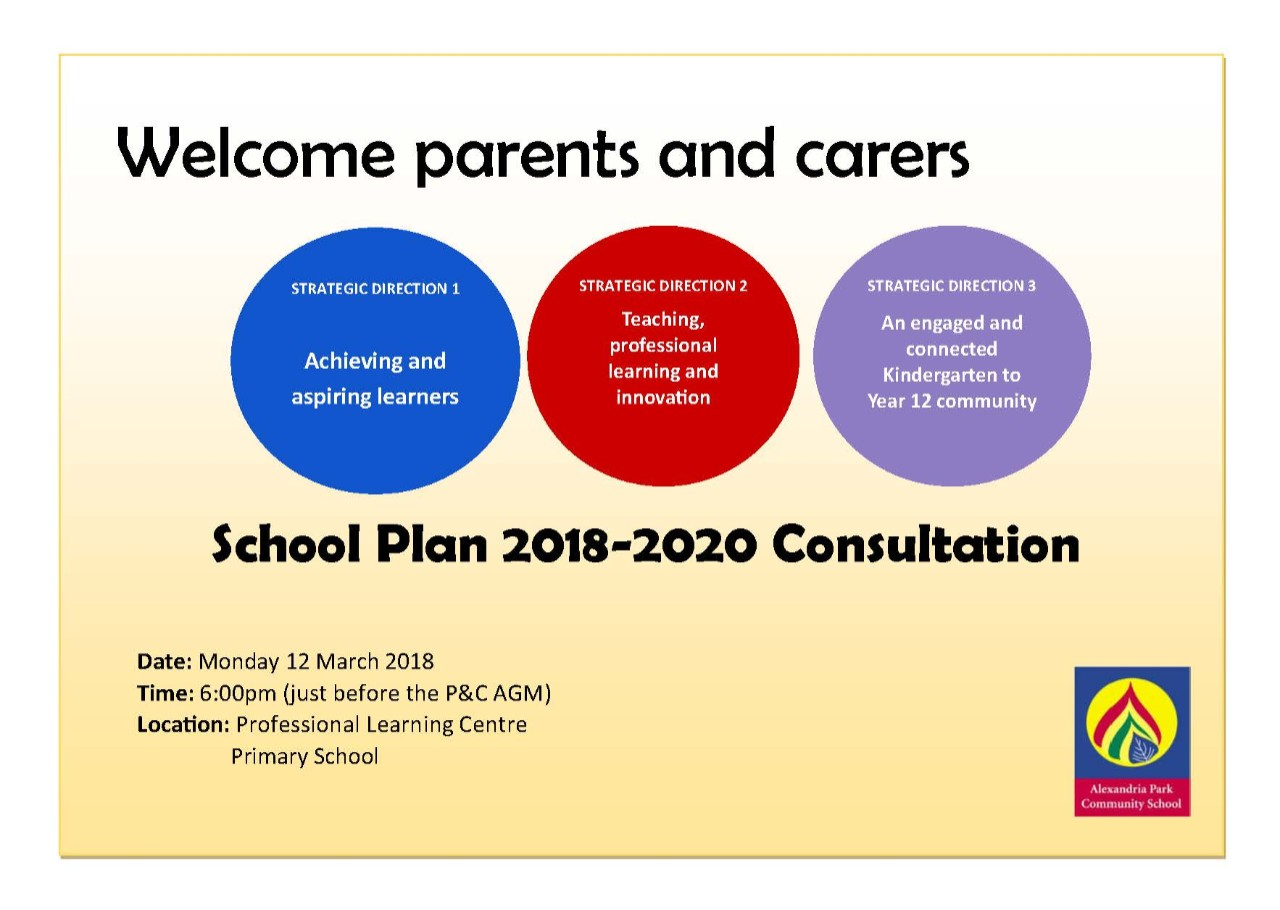 Parent Consultation Meeting On The School Plan 2018 2020